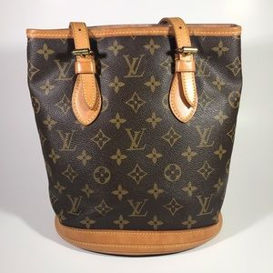 Louis Vuitton Petit Monogram Canvas Bucket Bag